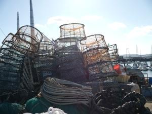 fishing pots and boats