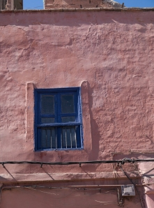 red wall blue window