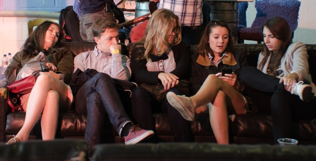 friends on a sofa