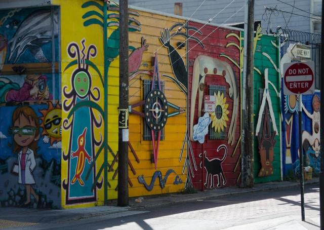 corner street graffitti