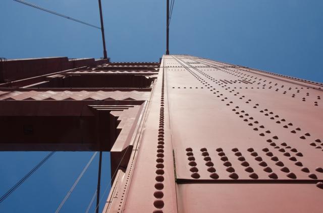 Golden Gate Bridge closeup